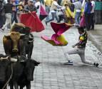 Una 'Pamplonada' cierra la fiesta en Píllaro, en Ecuador