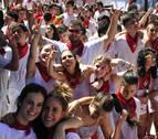 Los pañuelos rojos engalanan Carcastillo