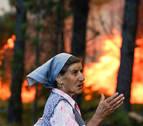 Cinco grandes incendios forestales  activos en Portugal