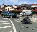 Fallece un motorista tras chocar contra una furgoneta en Lakuntza