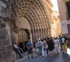 Se inician las visitas guiadas a las obras de restauración de la Puerta del Juicio de Tudela
