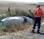 Dos heridos tras salirse de la vía con el coche que viajaban en Fontellas