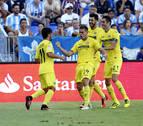 El Villarreal vence a un Málaga sin recursos