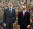 El Rey se reúne este lunes con Esparza (NA+), dentro de la ronda de consultas