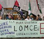 ELA y STEILAS protestan ante Educación contra la LOMCE y los recortes