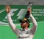 Hamilton gana en México y se acerca a 19 puntos de Rosberg