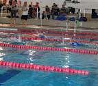 Niños navarros en el campeonato de promesas paralímpicas de natación Valencia
