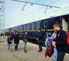 El Tren Azul hace parada en Castejón