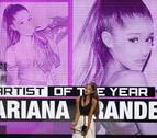 Ariana Grande, elegida artista del año en los American Music Awards