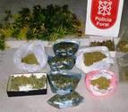 Detenidos dos varones en Irurita por tráfico de drogas