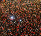 Miles de jóvenes se quedan congelados en Nochevieja Universitaria de Salamanca