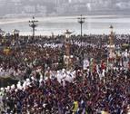 San Sebastián celebra su día grande al calor de tambores y barriles