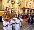 Peralta procesiona al calor de San Blas