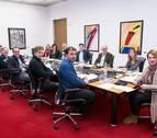 El Parlamento foral inicia el proceso para permitir la ikurriña en los ayuntamientos