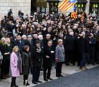 Puigdemont acompaña a Mas y las exconselleras hasta el TSJC para su juicio