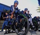 Nairo pule detalles en el velódromo de Tafalla