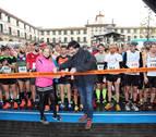 La Media Maratón de Tudela, contra viento y lluvia