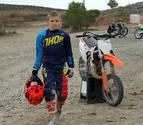 Álex Lasheras, el murchantino campeón de motocross con sólo ocho años
