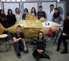 La Escuela de Arte realiza la sardina del Carnaval de Cintruénigo