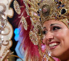 La exmiss Esther Pérez, reina del carnaval de Gran Canaria