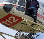 Trasladado en helicóptero un hombre mordido por una víbora en la zona de Irati