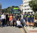 El navarro Juan Carlos Unzué sigue la primera etapa de la Volta con el Movistar