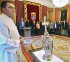Aranzadi e I-E rechazan la visita del Ángel de Aralar al Ayuntamiento de Pamplona