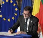 Rajoy considera que Declaración de Roma avala sus llamadas a respetar la ley