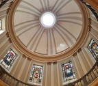 La capilla de San Fermín se viste de azul