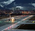 Desvían al aeropuerto de Pamplona vuelos con destino Bilbao por el viento