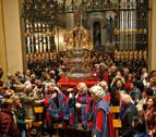 """Una misa de la escalera """"histórica"""" con la vuelta de San Fermín a la capilla"""
