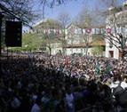 La Korrika llega a su fin en Pamplona en un ambiente festivo y reivindicativo