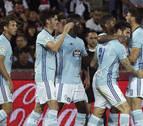 El Celta golea al Granada en el debut de Adams