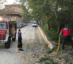 Controlado un incendio cerca de la residencia de ancianos de Sangüesa