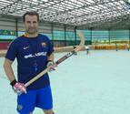 Clases de hockey en Lagunak con un doble campeón del mundo