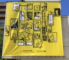 Civican se viste de amarillo con un mural de Javiera Mac-lean
