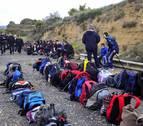 Un almuerzo y 108 mochilas en la romería de Ujué