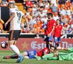 Osasuna se difumina en una marea de goles valencianista