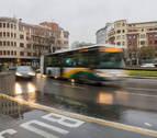 Servicios mínimos de las villavesas ante la huelga por el clima de hoy en Pamplona