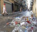 Los Sanfermines llevan 75.000 kg de vasos de plástico al vertedero