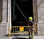 Herida una mujer al caerle encima la puerta de la Basílica de Valencia