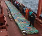 España intercepta ocho toneladas de cocaína en dos buques