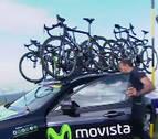 Susto con el coche del Movistar Team en la novena etapa del Giro