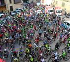 Protesta en silencio de 400 ciclistas en Arróniz
