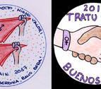 Recompensa para las pegatinas diseñadas por Maddi Tellería y Aitziber Mañeru