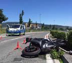 Un motorista de 26 años fallece al salirse de la vía en Landaben