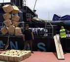Intervenido un velero con 12 toneladas de hachís en 400 fardos