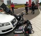 Herido grave un motorista al chocar contra un coche en el cruce de Pitillas