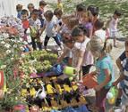 Un huerto infantil en el colegio público de Noáin