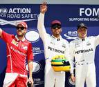 Hamilton logra la 'pole position' en Canadá e iguala a Senna